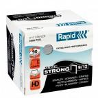 Punti Rapid Super Strong - alti spessori - 9/12 - acciaio zincato - metallo - Rapid - conf. 5000 pezzi