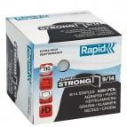 Punti Rapid Super Strong - alti spessori - 9/14 - acciaio zincato - metallo - Rapid - conf. 5000 pezzi
