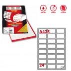 Etichetta adesiva A425 - permanente - 64x34 mm - 24 etichette per foglio - bianco - Markin - scatola 100 fogli A4