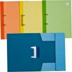Cartelle in cartoncino 2 fori Cartiera di Varese - 24,5x33,5 cm - blu - CL99102 (conf.10)