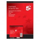 Lucidi 5 Star - Per stampanti inkjet - banda removibile lato corto - 333263 (conf.50)