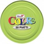 Stoviglie monouso in plastica colorata DOpla - Piatti piani - verde acido - Ø 22cm - 11178 (conf.30)