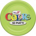 Stoviglie monouso in plastica colorata DOpla - Piatti piani - verde acido - Ø 17cm - 01699 (conf.50)