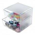 Cubi Organizer Deflecto - 2 cassetti - trasparente - 350101
