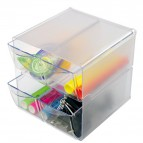 Cubi Organizer Deflecto - 4 cassetti - trasparente - 350301