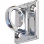 Attacco a muro per colonnina separacoda Securit - acciaio - 3,5x3,5 cm - RS-CLWH-CH