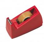 Dispenser per nastro adesivo - 33 mt - rosso - Lebez