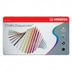 Stabilo Aquacolor 1636 - tratto 2,80mm - colori assortiti - Stabilo - astuccio 36 pastellli