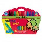 Schoolpack Superpastelli a cera Giotto Be-bè - 5 mm - da 2 anni in poi - 466800 (conf.10)