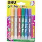 Glitter Glue UHU - Original - assortiti - 10 ml - D9396 (conf.6)