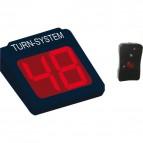 Display 2 cifre e radiocomando per Kit Eliminacode Nero/rosso Printex - Tr/dis2/led k