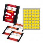 Etichetta adesiva - permanente - tonda ø 18 mm - 42 etichette per foglio - 10 fogli per busta - giallo - Markin