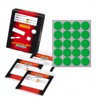 Etichetta adesiva - permanente - tonda ø 27 mm - 20 etichette per foglio - 10 fogli per busta - verde - Markin