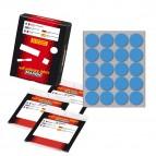 Etichetta adesiva - permanente - tonda ø 27 mm - 20 etichette per foglio - 10 fogli per busta - blu - Markin