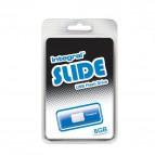 Chiavette USB Integral Slide - 8 GB - USB 2.0 flash drive - Blu - INFD8GBSLDBL