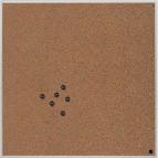 Lavagna-pannello quadrata Bi-Office - 45x45 cm - sughero - non magnetica - CA897340