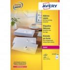 Etichette bianche QuickPeel™ x indirizzi,ecologiche,FSC Avery - 63,5x33,9 mm - L7159-100 (conf.100)