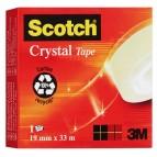 Nastro adesivo Scotch® Crystal 600 - 33 mt x 19 mm - trasparente - Scotch®