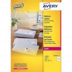 Etichette bianche QuickPeel™ x indirizzi,ecologiche,FSC Avery - 99,1x33,9 mm - L7162-250 (conf.250)