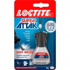 Colla Super Attak Easy Brush - 5 gr - trasparente - Loctite