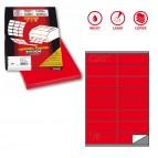 Etichetta adesiva C501 - permanente - 105x36 mm - 16 etichette per foglio - rosso - Markin - scatola 100 fogli A4
