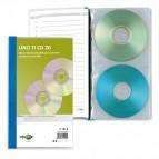 Porta CD/DVD personalizzabile Uno Ti CD - 20 tasche - 125x120 mm - Sei Rota