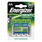 Batterie ricaricabili Energizer - AA - stilo - 1300 - E300322100 (conf.4)
