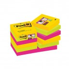 Foglietti Post-it® Super Sticky Rio De Janeiro Post-It - 47,6x47,6 mm - 622-12SSRIO-EU (conf.12)
