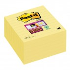 Foglietti Post-it® Supersticky Large XL giallo canary righe - 101x101 mm - 675-SS6-CY-EU (conf.6)