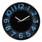 Orologio da parete 3D Methodo - 30,3 - blu/nero - V150010