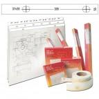 Banda appendidisegni - PVC - 55mmx50metri -  bianco opaco - 3L
