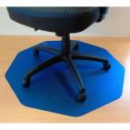 Tappeti protettivi in policarbonato Floortex - Per pavimenti - 96x97x0,17 cm - blu- 121001009RBL