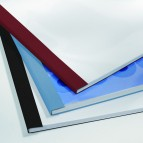 Cartelline termiche Business Line - 6 mm - leather blu - GBC - scatola 100 pezzi