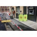 Barriera segnaletica Viso - LxH 171X100 cm - TRAVOLITE