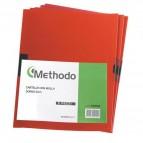 Cartellina con molla Spring File - PVC - 22x31 cm - dorso 5 mm - rosso - Methodo