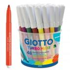 Pennarelli Turbo Maxi - punta ø5mm - colori assortiti - Giotto - barattolo 48 pezzi