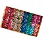 Stelle adesive per pacchi regalo Brizzolari - tinta unita metallizzata - 35 mm - 2970 (conf.100)