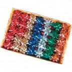 Stelle adesive per pacchi regalo Brizzolari - Nastro tinta unita metalliz.- 65 mm - 3170 (conf.100)