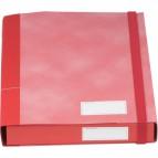 Cartella con elastico Essential Esselte - Dorso 4 - 25x32 cm - rosso nuvolato - 390370160