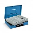 Cassetta portavalori Deluxe - 230x185x80 mm - blu - 3414BL