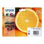 Originale Epson inkjet cartucce arance T33 - 24,4 ml - 5 colori - C13T33374011