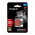 Flash memory card Integral - 16 GB - INMSDH16G10-90/45U1