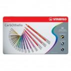 Matite colorate CarbOthello Stabilo - Scatola in metallo - 1460-6 (conf.60)