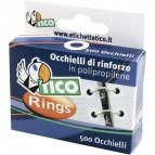 Occhielli di rinforzo Tico - 13 mm - bianco - RINGSC-B50 (conf.500)