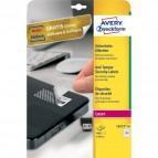 Etichette anti-manomissione per stampanti laser Avery - Ø 40 mm - 24 et/ff - L6112-20 (conf.20)