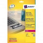 Etichette poliestere argento Laser Avery - 45,7x21,2 mm -48 - L6009-20 (conf.20)