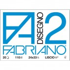 Fabriano disegno 2 - Liscio - 24x33 cm - a punti metallici - 110 g/mq - 10 fogli - 04204105