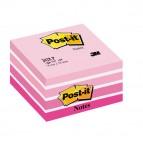 Blocco foglietti Cubo - 76 x 76mm - rosa pastello, rosa corallo, rosa neon, rosa ultra, bianco - 450 fogli - Post It