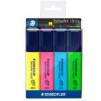 Evidenziatore Textsurfer Classic  - punta a scalpello - tratto da 1,0-5,0mm - astuccio 4 colori - Staedtler