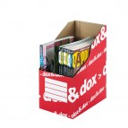 Portariviste Dox&Dox - 17x35x25 cm - bianco/rosso - Rexel Dox